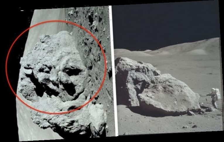 Alien face on the Moon: UFO expert claims 'sculpture' is '100% proof of intelligent life'