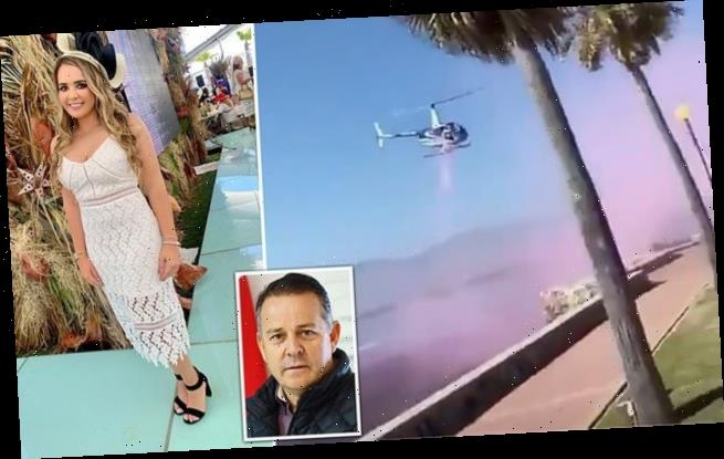 Mexican senator's pregnant daughter hires helicopter to reveal gender