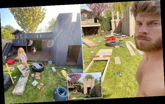 Father spends three days and £170 building incredible garden fortress