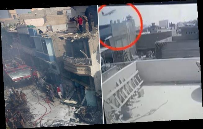 CCTV video shows doomed PIA Airbus A320 crashing Into Karachi building