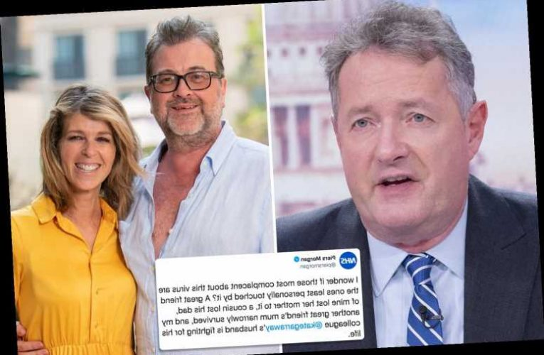 Piers Morgan says Kate Garraway's husband Derek Draper is 'fighting for his life' as he silences critics
