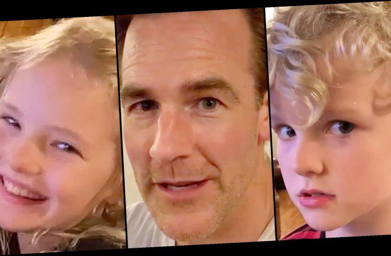 Watch James Van Der Beek's Kids Hilariously Roast His 'Varsity Blues' Movie