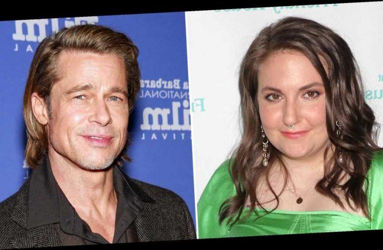 Lena Dunham Addresses 'Awkward' Brad Pitt Photo: I'd 'Never Force a Kiss'
