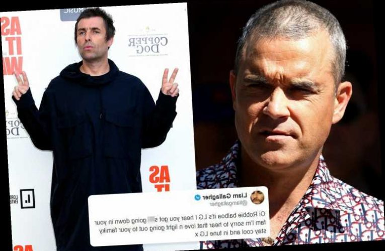 Liam Gallagher ends bitter feud with Robbie Williams after singer reveals his dad has Parkinson's
