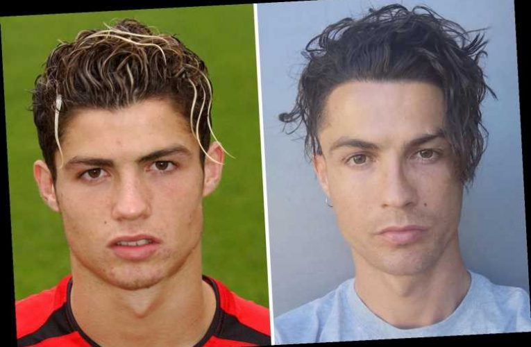 Cristiano Ronaldo shows off new wavy long hair in Man Utd throwback leaving Juventus team-mates in stitches – The Sun
