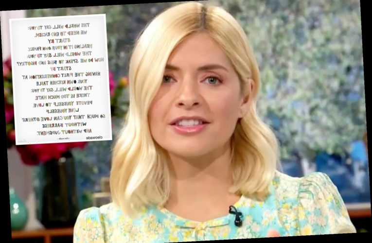 Holly Willoughby shares moving post on the importance of teaching her children about racism after George Floyd's death