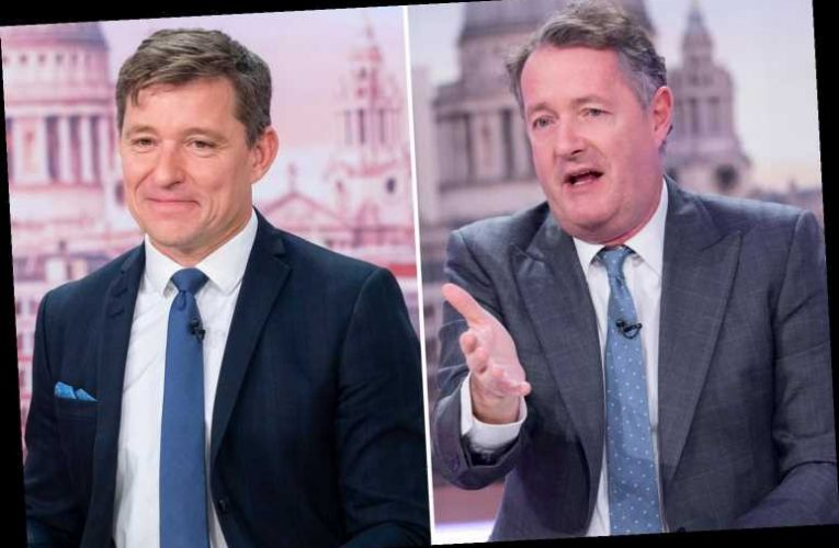 Piers Morgan is replaced by Ben Shephard on GMB next week as he takes a break to go on holiday to 'his broom cupboard' – The Sun