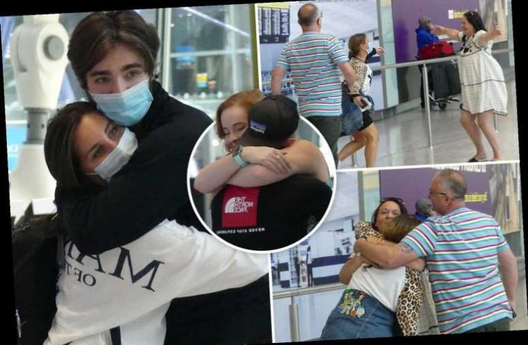 Hugs and kiss as families FINALLY welcome Brit cruise liner crew home after 64 days stranded at sea – The Sun
