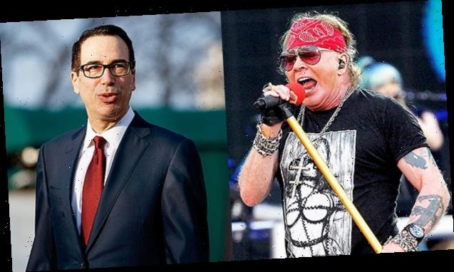 Axl Rose & Steve Mnuchin Ignite Crazy Feud On Twitter & Fans Are Going Wild Over It