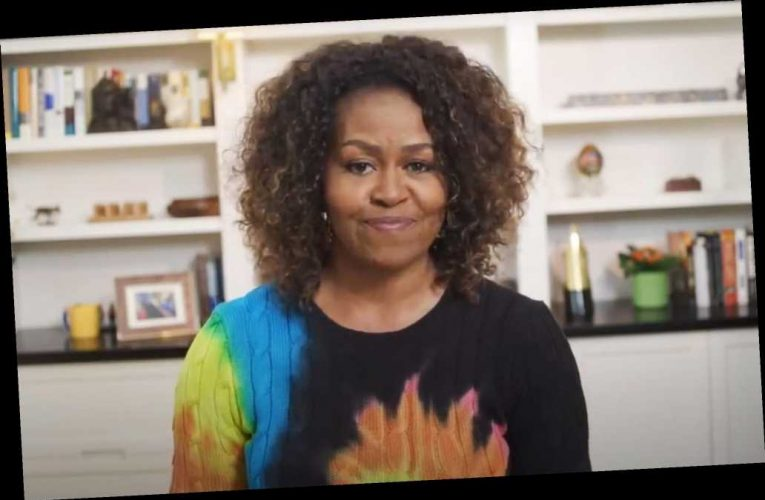 Michelle Obama Just Wore the Coolest Tie-Dye Sweater, and You Can Get It on Sale