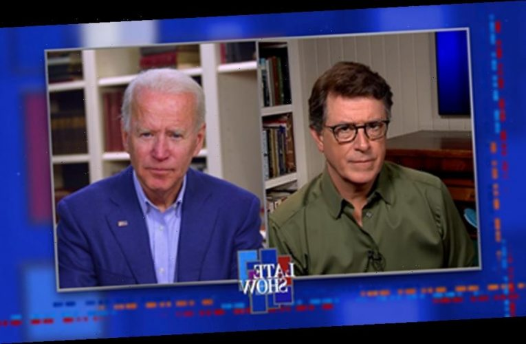 "Stephen Colbert Asks Joe Biden If His Administration Would Investigate Donald Trump's People Who ""Danced With The Law"""