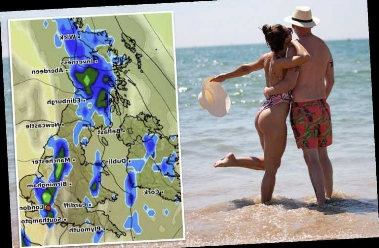 UK weather forecast – Temperatures plummet next week with rain set to wreck 28C heatwave as storms barrel into Britain – The Sun