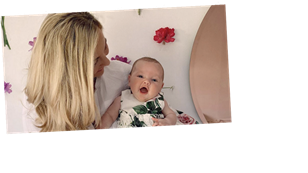 Lydia Bright says she's in 'hysterics' as her baby daughter Loretta Rose rolls for the first time