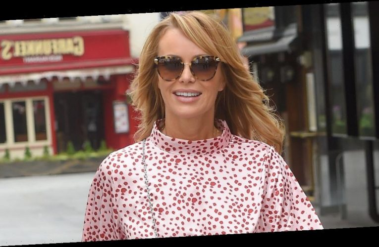 Amanda Holden stuns in gorgeous pink dress days after launching her own fashion collection