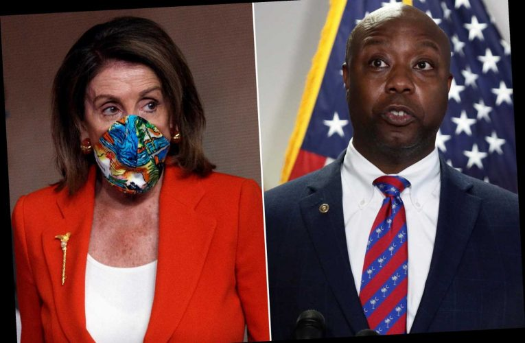Sen. Tim Scott blasts Nancy Pelosi's 'outrageous, sinful' GOP claim