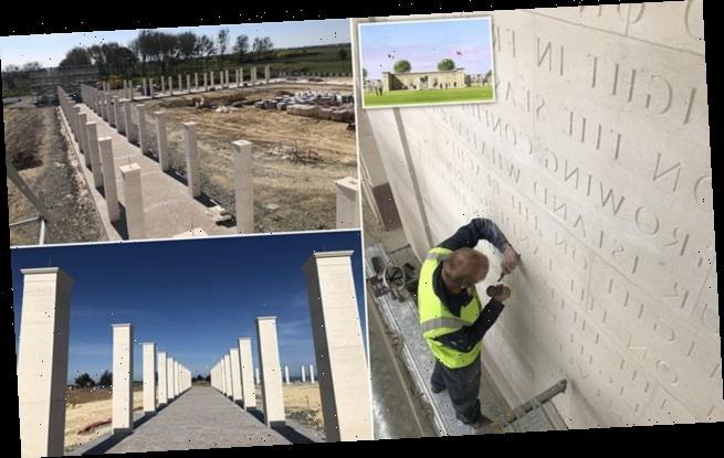 Work resumes on British Normandy Memorial