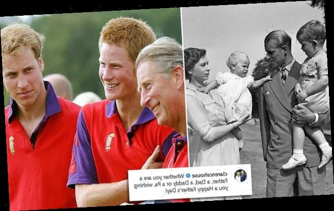 Prince Charles shares a snap with Harry and William on Father's Day