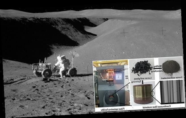 Scientists turn moon dust into construction material for a lunar base