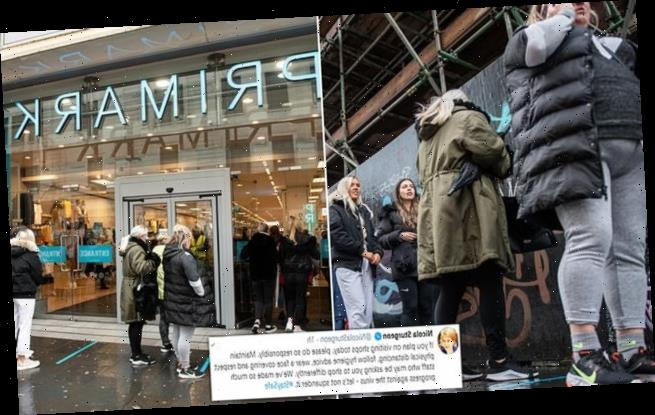 Hundreds of Scottish shoppers queue for hours to get into Primark
