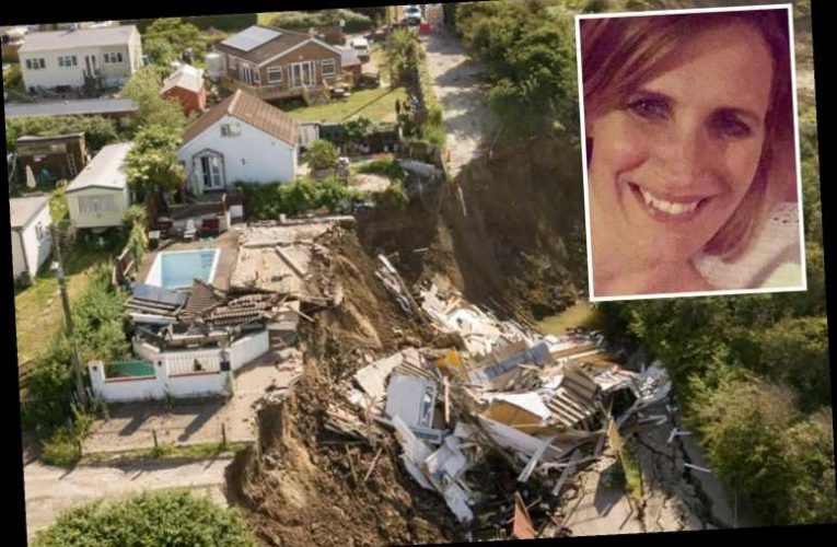 Mum and kids were INSIDE dream home as it started to crumble and crack before falling off cliff – The Sun