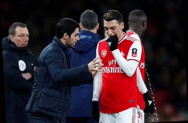 Arsenal team news: Mesut Ozil on bench as Mikel Arteta's side look to bounce back against relegation battlers Brighton – The Sun
