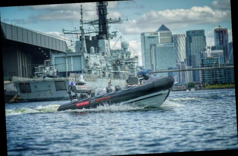 Royal Navy's first ever CREWLESS boat armed with machine gun that hits 44mph