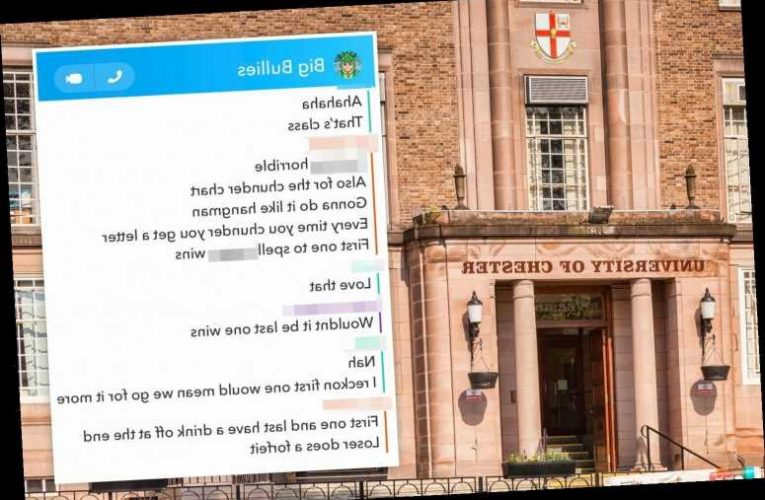 Uni launches racism probe into students' vile group chat about spelling 'n*****' in vomit in front of black housemate