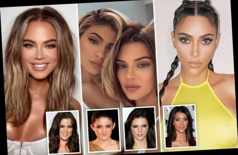 From Khloe to Kylie – the changing faces of the Kardashian and Jenner clans – The Sun