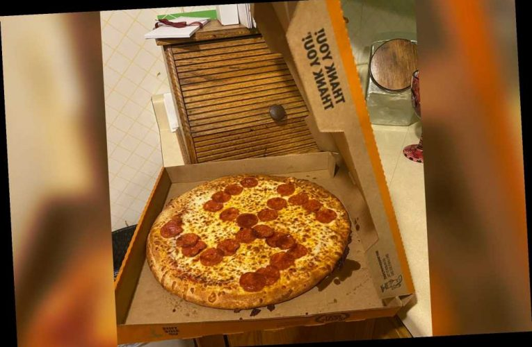 Ohio Little Caesars delivers pizza with pepperoni swastika