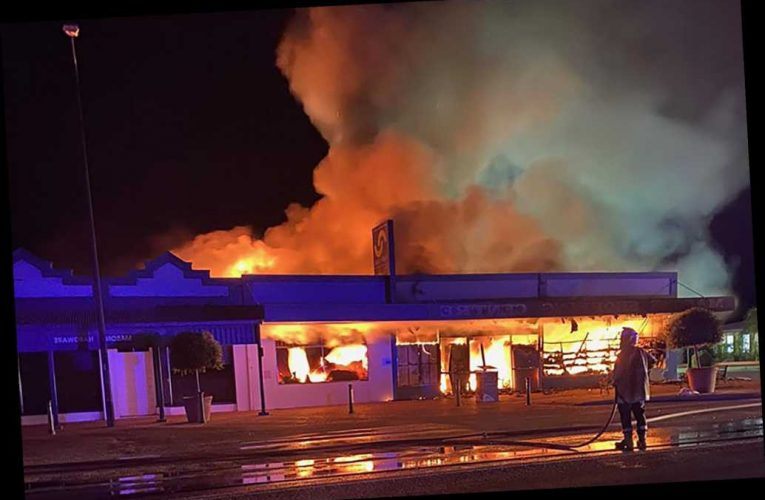 Grocery store owner reportedly sets own shop on fire to kill coronavirus germs