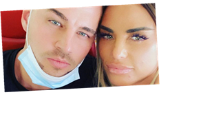 Katie Price 'so in love' with boyfriend Carl Woods as they jet off on family holiday without Harvey
