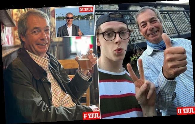 Nigel Farage is accused of breaking social distancing again