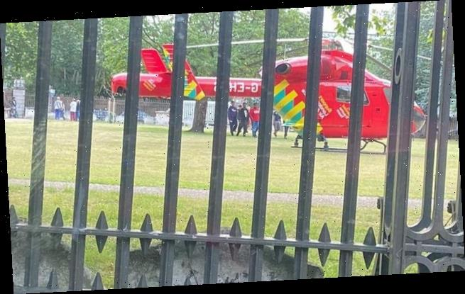 Toddler rushed to hospital after falling from building in east London