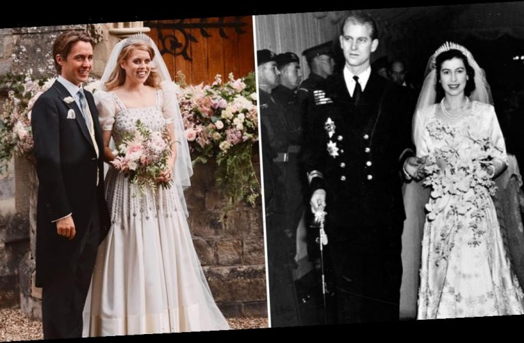 Princess Beatrice Borrowed Her Wedding Dress and Tiara From Queen Elizabeth II's Wardrobe