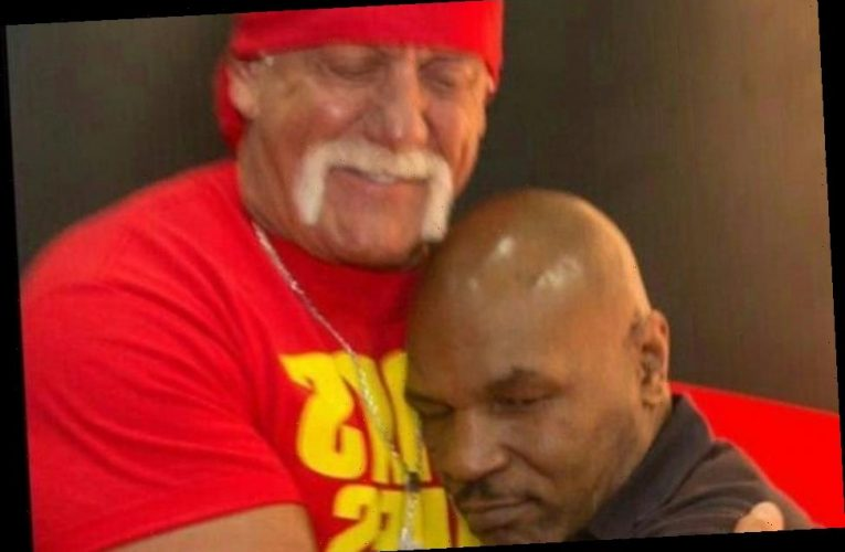 WWE icon Hulk Hogan shares sweet throwback shot hugging Mike Tyson years 'before sport world had us going at each other'