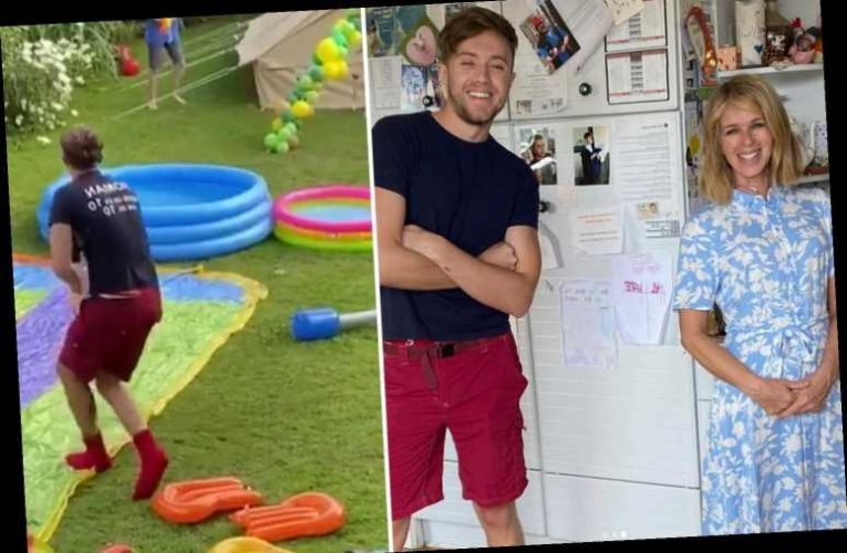 Kate Garraway brings in Roman Kemp in his I'm A Celeb clothes for son Billy's 11th birthday