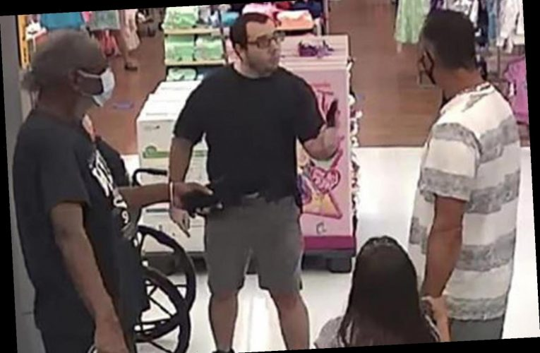 Terrifying moment Walmart shopper pulls GUN on a dad and his daughter after being asked to wear a face mask – The Sun