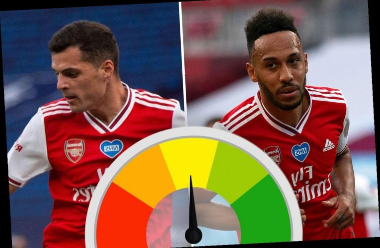 Arsenal player ratings: Aubameyang and Xhaka on form in FA Cup semi-final win over Man City in defensive masterclass