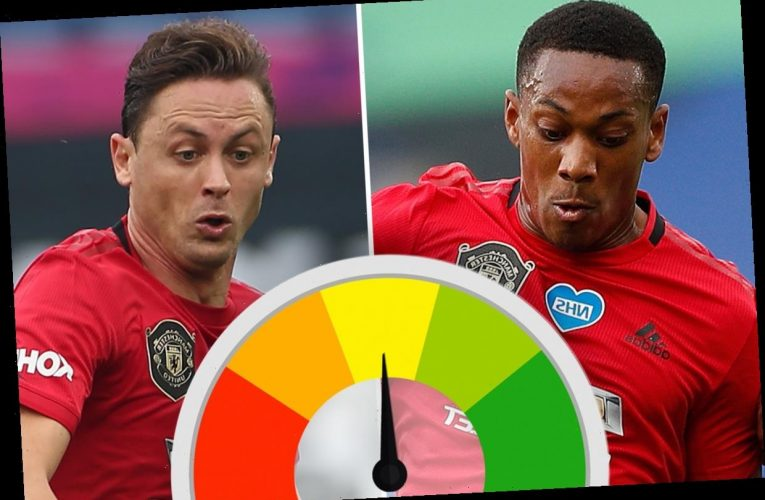 Man Utd player ratings: Anthony Martial a constant thorn in Leicester's side as Nemanja Matic steadies ship