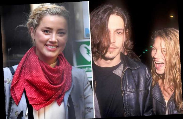 Amber Heard claims Johnny Depp once pushed Kate Moss down the stairs in violent rage