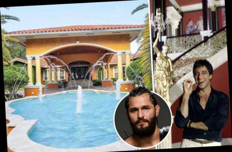 Inside UFC star Jorge Masvidal's £1.6m Miami mansion inspired by Scarface with Koi pond, game room and marble flooring
