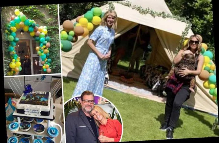 Kate Garraway throws epic 11th birthday for son Billy while dad Derek remains in hospital and Myleene Klass helps out