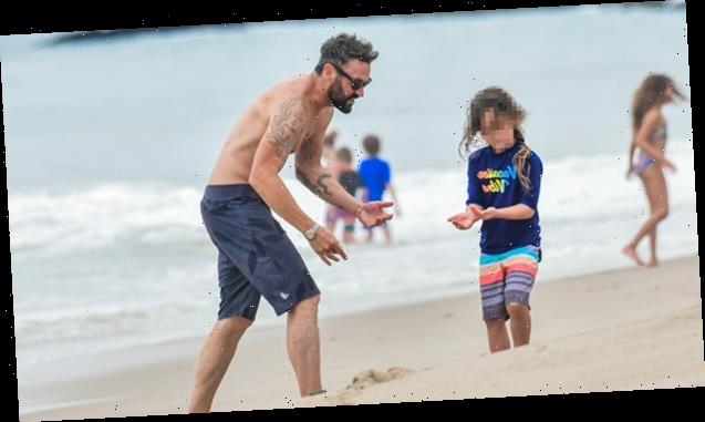 Brian Austin Green Enjoys Daddy Day At Beach With Kids After Tina Louise Split — Shirtless Pics
