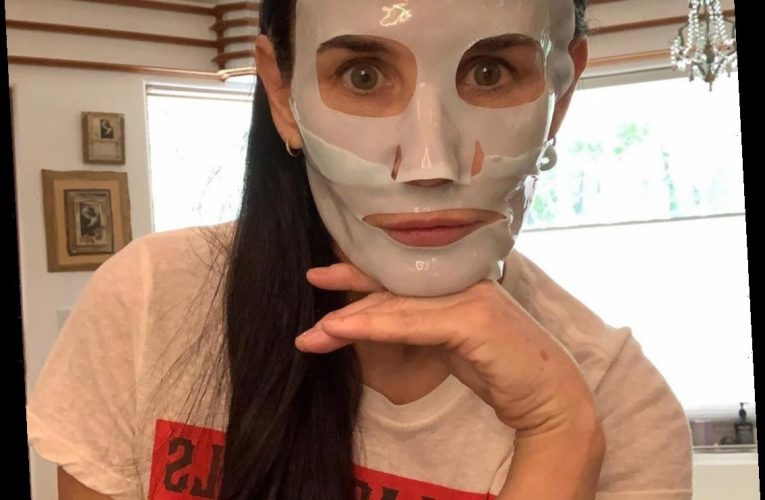 Demi Moore Gives Her Skin a Boost — Plus More Celebs Face Mask Selfies