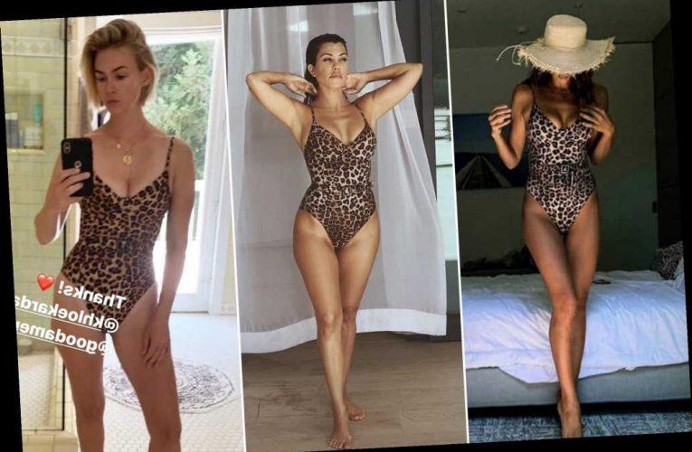 Kourtney Kardashian, January Jones and Irina Shayk all love this leopard swimsuit