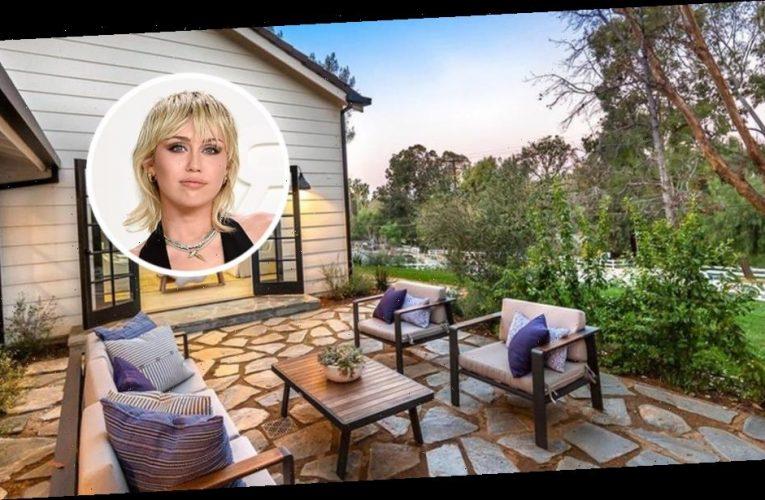 Miley Cyrus Lands Back in Hidden Hills