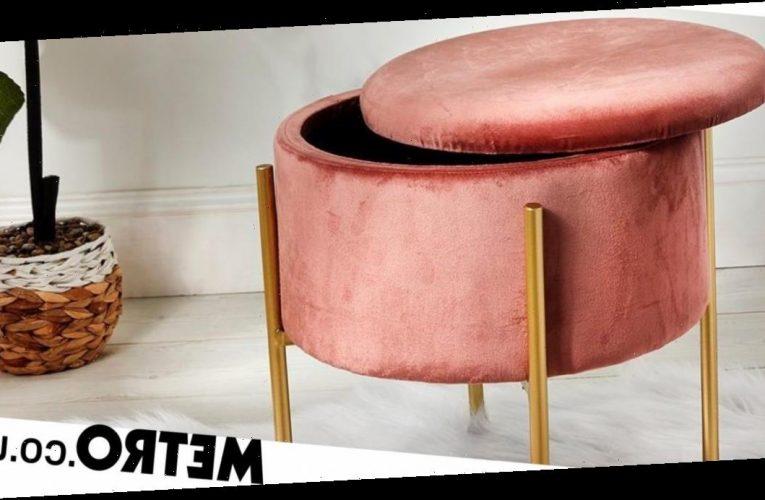 Primark sells on-trend velvet storage stool for £24