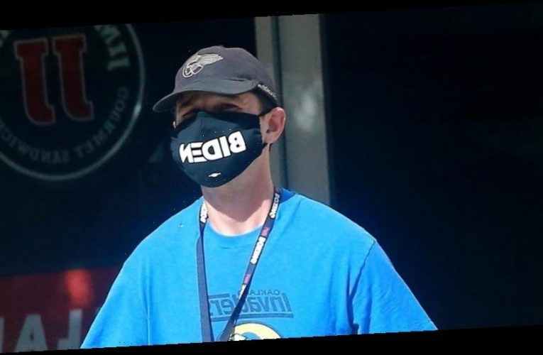 Shia LaBeouf Shows His Support for Joe Biden With His Face Mask