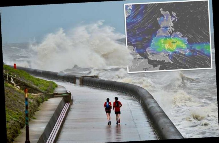 UK weather forecast – Storm Edouard to batter Britain with heavy rain before week-long 26C heatwave