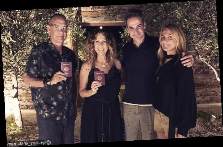 Tom Hanks and Rita Wilson Officially Welcomed by Greek Prime Minister as Honorary Citizens